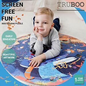 Truboo Kids Jigsaw Puzzle Children DIY Game Educational Toys Age 3+ Wooden