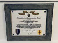 Military Commemorative / Vietnam Service Commemorative Medal Certificate