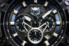 Invicta Mens 45mm Marvel Avengers Black Panther Limited Edition SS Tachy Watch