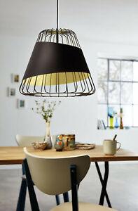 Modern Chandelier Black Design And Gold 1 Light Glo 49509 Austell