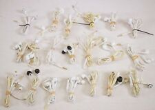 LOT OF 20 Samsung S4 S5 S6 Flat Cable In-ear Headphones w/ Inline Mic - White