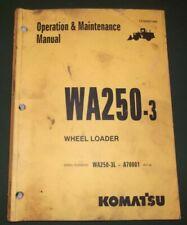KOMATSU WA250-3 WHEEL LOADER OPERATION & MAINTENANCE BOOK MANUAL S/N A70001-UP