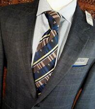 NWT Jos A Bank Men 42L BLUE Plaid Merino Wool 2 Button SportCoat NEW $450