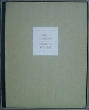 """THE FOUR SEASONS"" Portfolio of 12 Loose Prints by Andrew Wyeth in Case 1962"