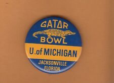 1979 Michigan Wolverines Gator Bowl Pin Back Button Unsold Stockk