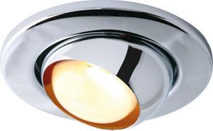 R50 LED CHROME EYEBALL DOWNLIGHT 6W LED INCLUDED OLD STYLE SPOT LIGHT SES E14
