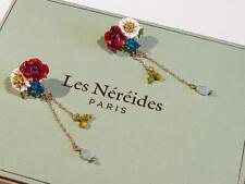 BEAUTIFUL ENAMELLED FLOWER EARRINGS by LES NEREIDES - FREE UK P&P.........CG0538