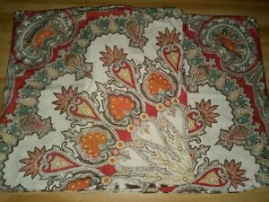 """POTTERY BARN Valencia Paisley Pillow Cover COVERS 18""""  ~ SET OF 2 ~"""