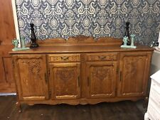 VINTAGE FRENCH LOUIS XV STYLE 4 DOOR/2 DRAWER LARGE SIDEBOARD