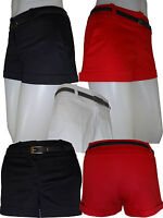 New Ladies Summer Women Shorts Hot Pants Black,Red,White size  8 10 12 14 16