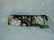 Vera Bradley Pencil Roll Bag in Cocoa Moss 100%Cotton  Floral Multi-Color$24