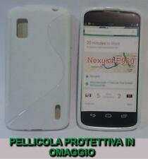 Pellicola+Custodia cover case WAVE BIANCA per LG Nexus 4 E960