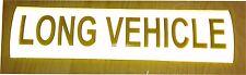 Reflective LONG VEHICLE self adhesive vinyl Sign Sticker