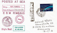FRENCH CRUISE SHIP CGM RIMBAUD A SHIPS CACHED COVER