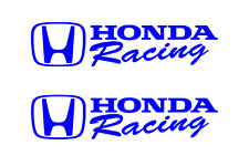 Honda Racing Sticker BLUE 2X Decal Civic Accord CRX Turbo SI Auto drift decals