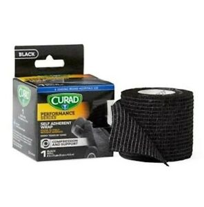 """Curad Performance Series Sports Wrap - Blk 2""""x5yds - Rubber Latex Free - 2 boxes"""