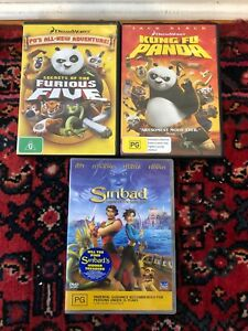 Kung Fu Pand and Sinbad DVDs