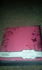 Colorbok 12 x 12 designer scrapbook album - pink flourish - Flower Butterfly