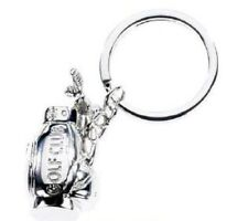 Golf Bag with Clubs Keyring Key Ring NEW 10737
