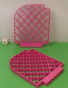 LEGO® Belville Zubehör Schloss 2x Gitter Abtrennung Wand rosa abgerundet