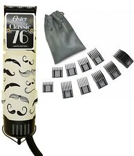 Oster 76 Mustache Professional Hair Clipper Limited Edition + 10 PC Comb Set
