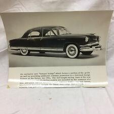 2 Vintage 1952 Car Photographs Kaiser Manhattan Black & White Picture