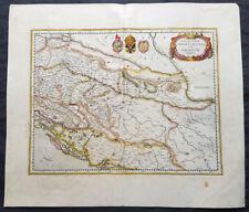 1639 Jansson & Mercator Original Antique Map Slovenia, Croatia, Bosnia, Dalmatia