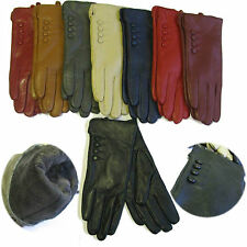 LADIES LEATHER GLOVES FUR LINING WOMENS GENUINE PREMIUM QUALITY DRIVING WARM
