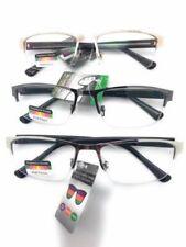 Multi Focus Progressive Reading Glasses 3 Powers in 1 Reader  Half Metal Rim