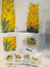 Jungle Kingdom Animal Book Toys Sewing Fabric PANEL-Makes 6-Elephant/Giraffe/Tig