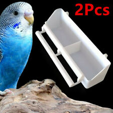 2Pcs Parrot Hanging Water Food Feeder Cage Bowl For Cage Birds Budgie Pigeon Us