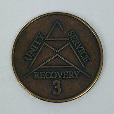 CMA Crystal Meth Anonymous 3 Year Anniversary Medallion Token