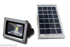 FOCO FARO LED ENERGÍA SOLAR PANEL BATERÍA RECARGABLE IP65 5W 9V
