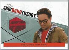 Big Bang Theory Season 3 & 4 Leonard Hofstadter Red Shirt Wardrobe Relic M24