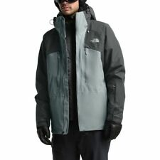 The North Face POWDERFLO GORE-TEX SKI SNOWBOARD Grey JACKET Men's MEDIUM $349