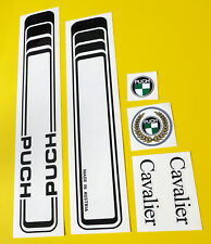 PUCH CAVALIER full set of vintage style Cycle Frame Decals Stickers