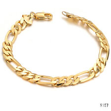 Fashion Men's Curb Chain Gold Plated Link Bracelet