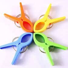 4Pcs/Set Beach Towel Clip Lounger Sunbed Pool Pegs Clothes Air Cure Tools