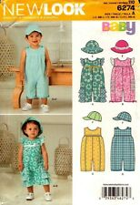 New Look Sewing Pattern 6274 Babies Playsuit and Hat