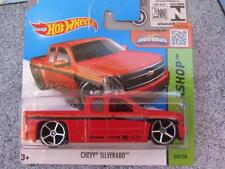 Hot Wheels 2015 #249/250 CHEVY SILVERADO red HW Workshop Case L