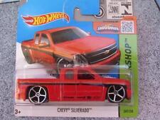 Hot Wheels 2015 #249/250 CHEVY SILVERADO red HW Workshop Case L
