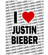 I Love Justin Bieber - A3 Poster - Gift Birthday Christmas Stocking Filler