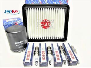 fits SUZUKI JIMNY 1.3 Oil & Air Filter & Spark Plug Kit for M13A ENGINE 2001 on