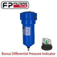 "0.01 Micron Commercial Compressed Air Filter - 1/2"" BSP 45CFM 16bar Bonus Gauge"