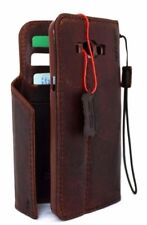 Genuine vintage leather hard case for lg g4 book wallet magnet cover brown slim