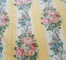 "Vintage Croscill Princess QUEEN Comforter Yellow Floral 100"" x 90"""