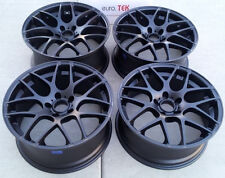 "19"" Eurotek Wheels For BMW E90 E92 325i 328i 330i 335i Black Concave Rims Set 4"
