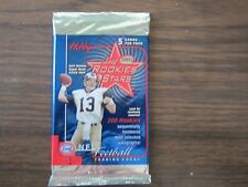 2000 Leaf Rookies Stars Football Factory Sealed Hobby Pack Tom Brady Rookie Year