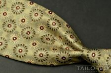 "ERMENEGILDO ZEGNA Green Floral 100% Silk Mens Luxury Tie - 3.75"""