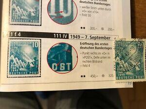 Bund 1949 Plattenfehler 111f IV gestempelt